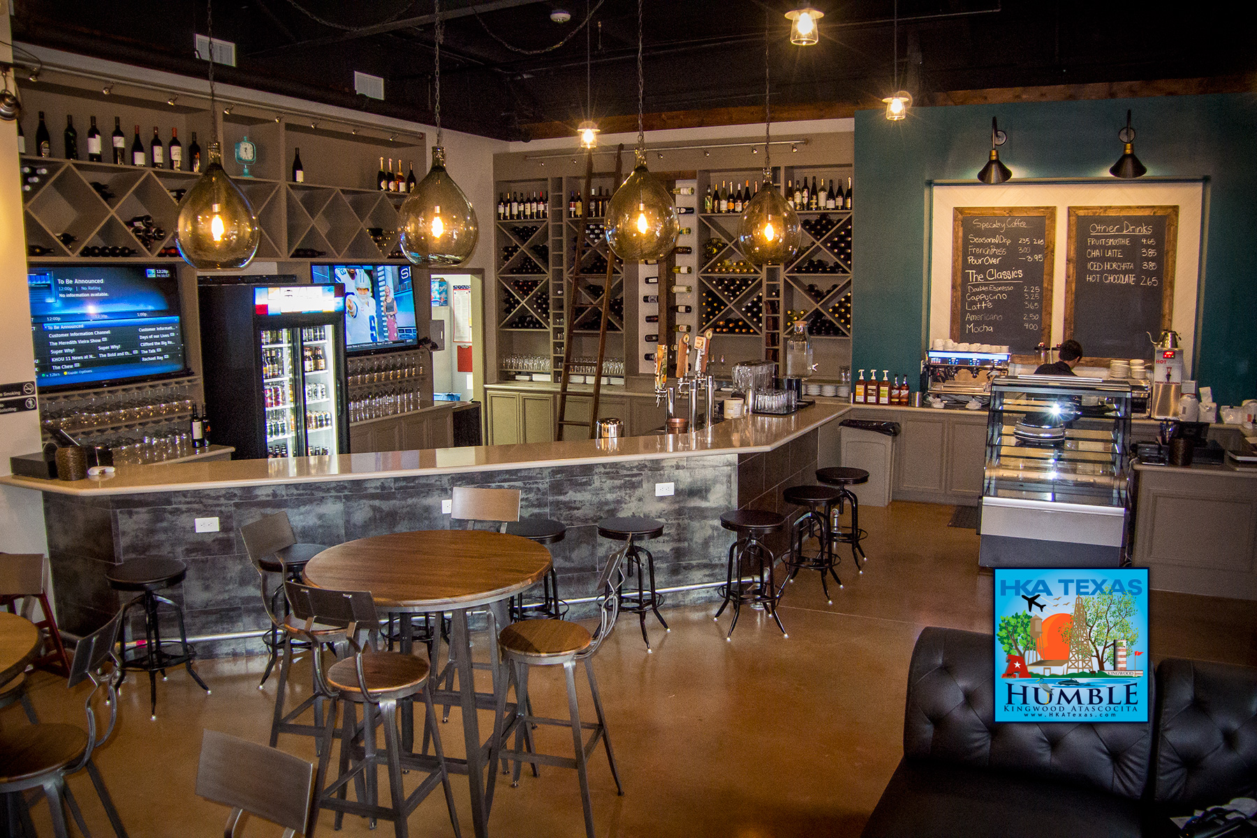New coffee shop wine bar texas craft beers in fall creek for Michaels craft store houston texas