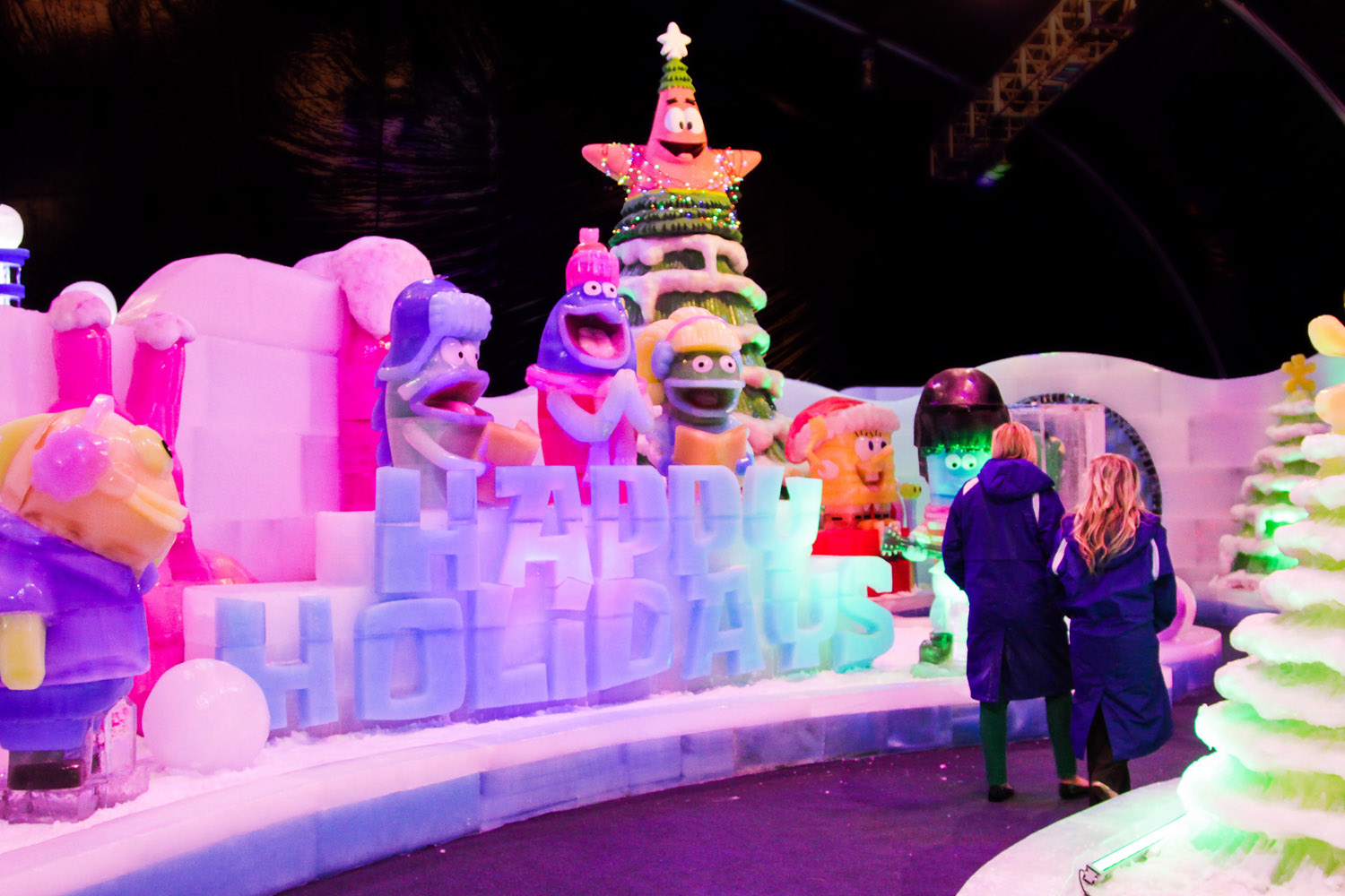 Moody Gardens Festival of Lights and NEW Ice Land Ice Sculptures