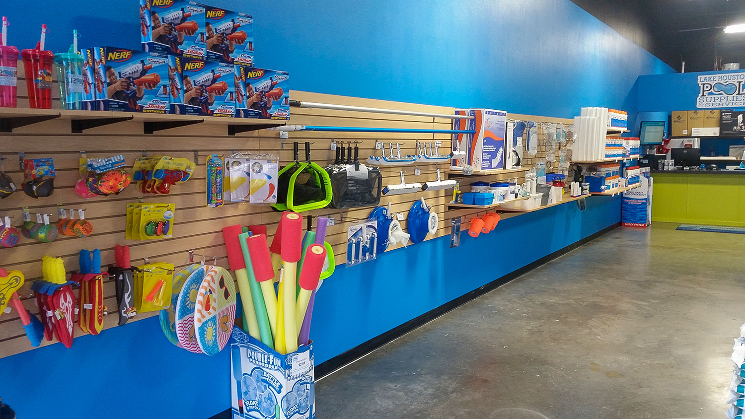 Lake houston pool supply celebrates their grand opening in for Pool supplies