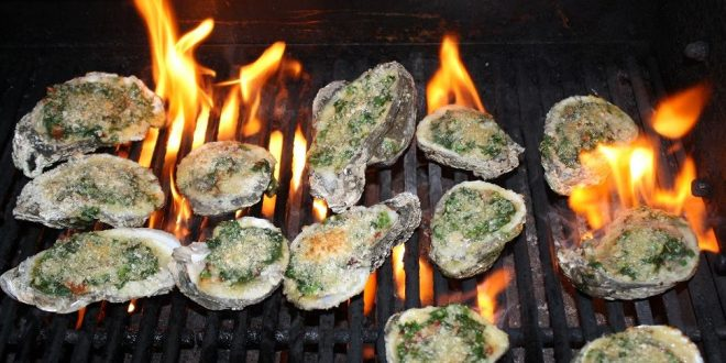 Chargrill oysters with a choice of toppings