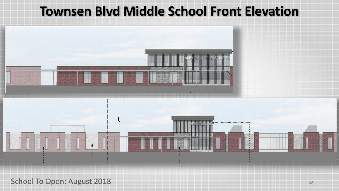 Townsen Blvd Middle School front elevation 1