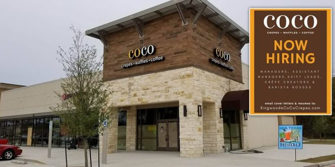 CoCo Crêpes, Waffles & Coffee is NOW HIRING for their new Kingwood Location