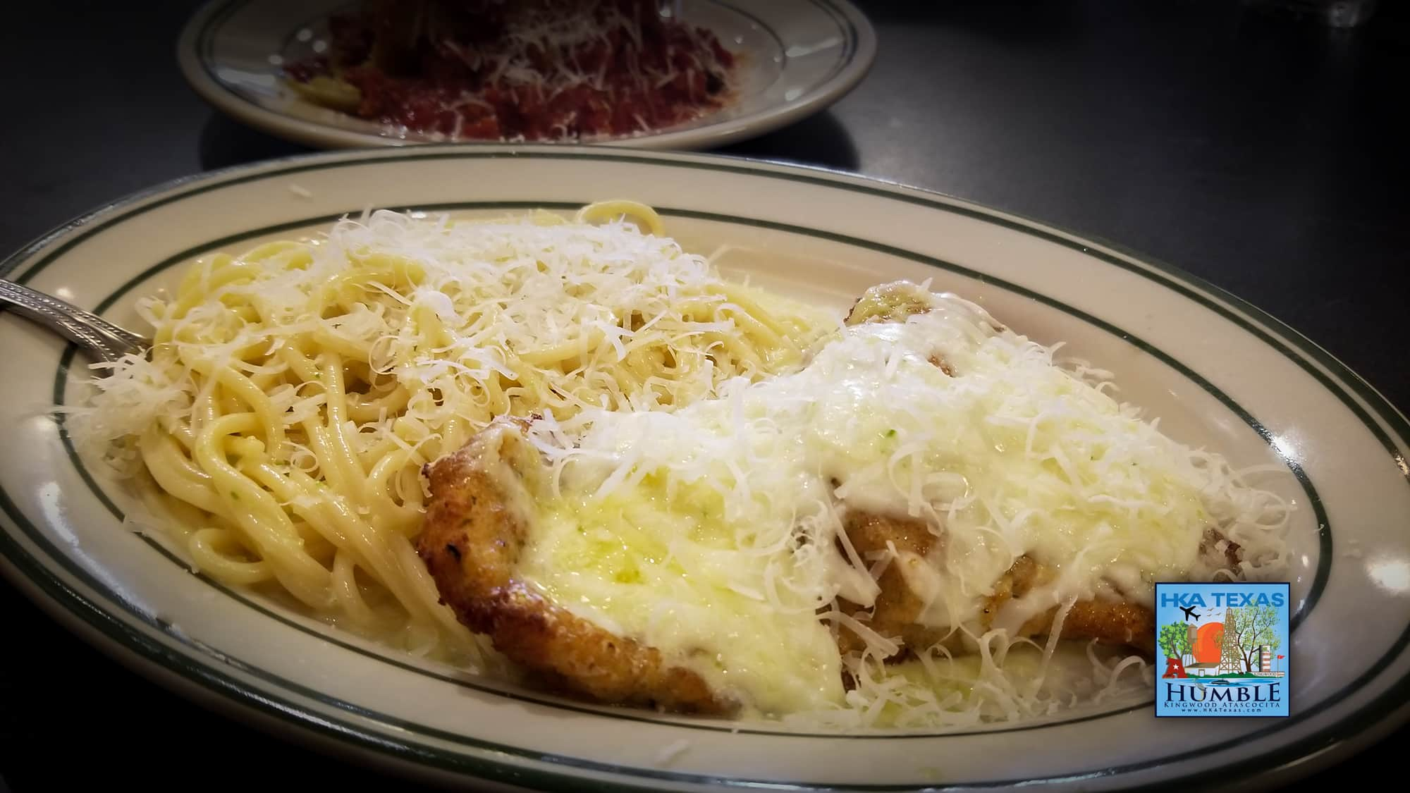 Marsalas Chicken Parmesan with jalapeno cream sauce