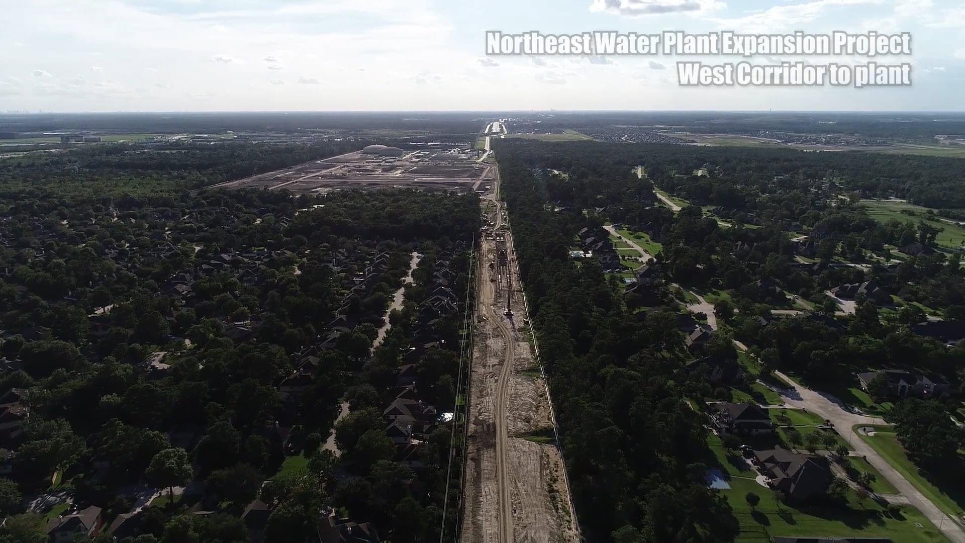 West corridor to plant