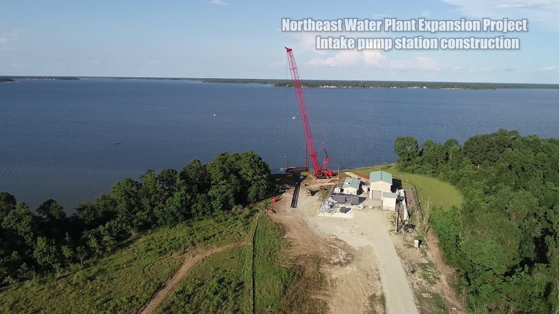 Lake Houston intake pump station construction