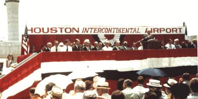 Houston IAH 50 years opening day