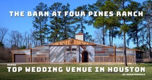 The Barn At Four Pines Ranch named top Wedding Venue in Houston, Texas (2020)